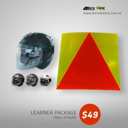 Trax TR03ZR Open Face Helmet + PPlate 3M Sticker - Only for New Riders