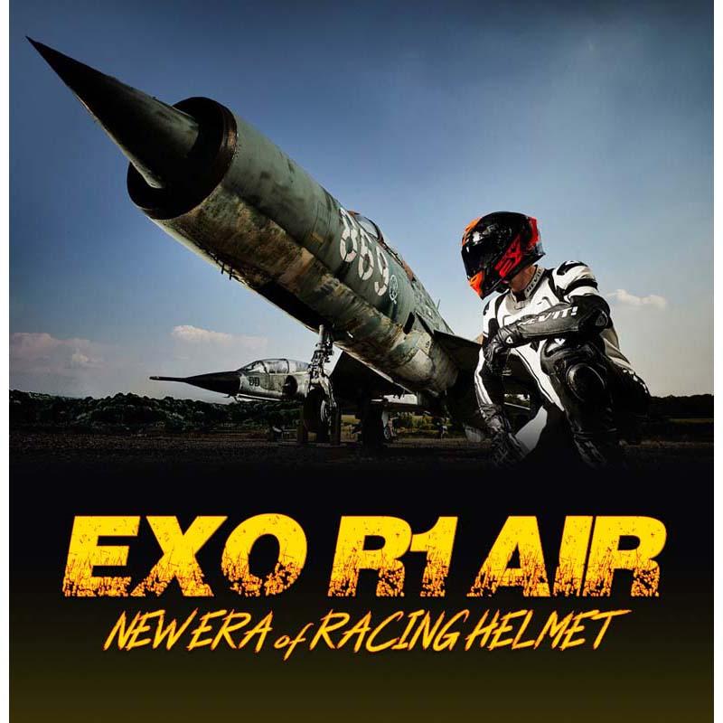 Scorpion EXO1029224 R1 Air Ogi Matt Black-Red Motorcycle Helmet