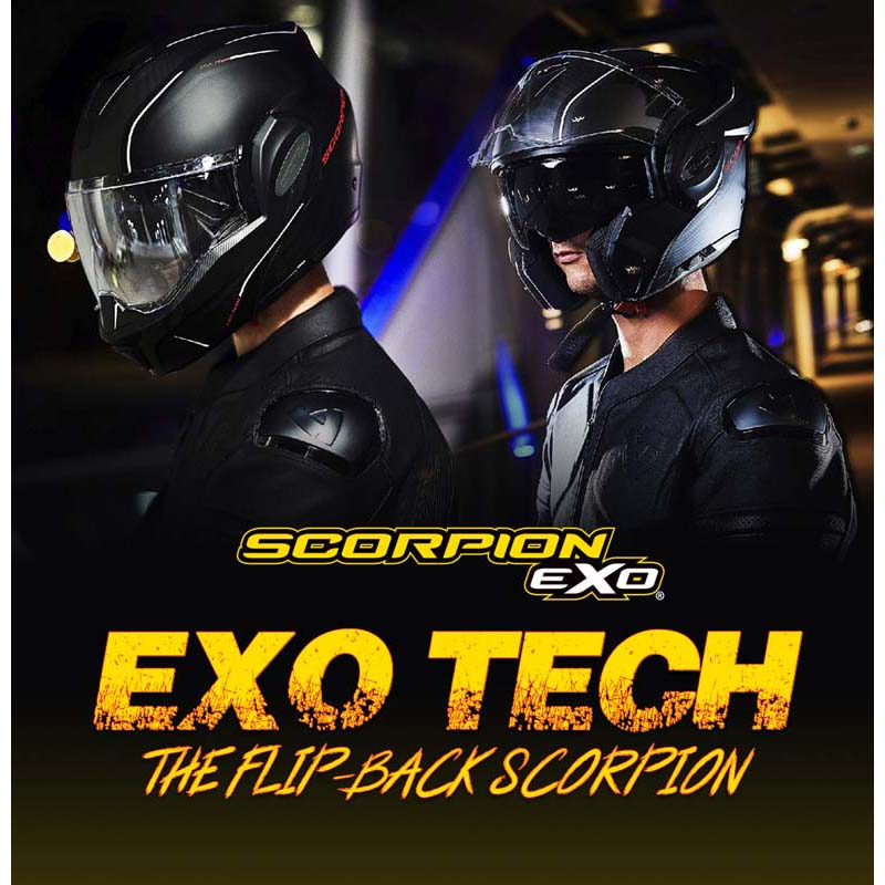 Scorpion EXO Tech Time Off Modular Motorcycle Helmet