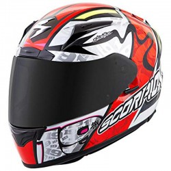 Scorpion Exo-2000 Evo Air Bautista Neon Red Full Face Motorcycle Helmet