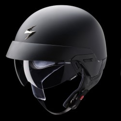 Scorpion EXO-100 Matt Black Open Face Motorcycle Helmet