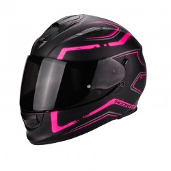 Scorpion EXO-510 Air Radium Matt Black-Pink Motorcycle Helmet