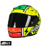 Scorpion Evo 2000 Air Bautista Replica lII Helmet - Yellow Fluorescent/Black