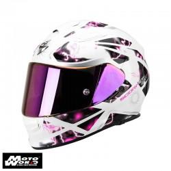 Scorpion EXO-510 AIR Xena Pearl-White-Pink Motorcycle Helmet