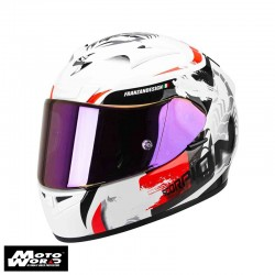 Scorpion EXO-710 Air Cerberus White-Pearl-Red Motorcycle Helmet