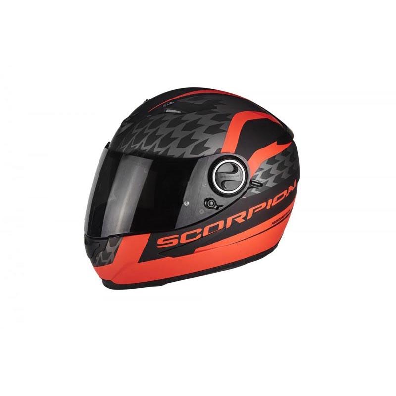 Scorpion EXO 490 Genesi Motorcycle Helmet - Matt Black-Fluorescent Red