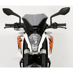 "MRA Racing Windscreen ""R"" KTM DUKE 125/200/300 Smoke Grey"