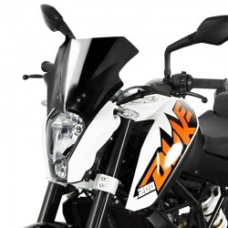 "MRA Racing Windscreen ""R"" KTM DUKE 125/200/390 Black Colour 2011-2015"