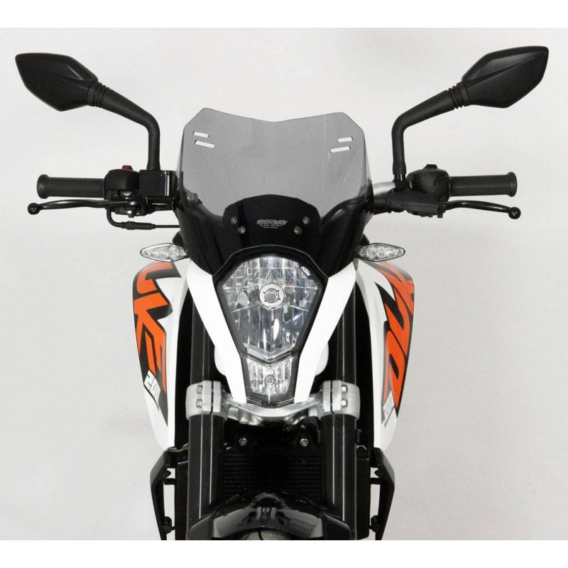 "MRA Spoiler Windscreen ""S"" KTM DUKE 125/200/390 Smoke Grey 2011-2015"