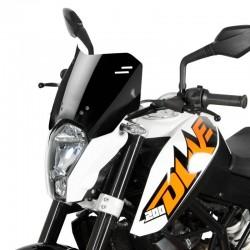 """MRA Spoiler Windscreen """"S"""" KTM DUKE 125/200/390 Black"""