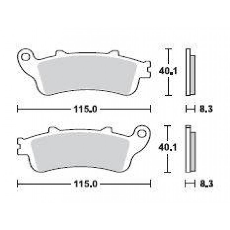 SBS 156MS Front Sinter Brake Pad for Honda FJS 400 Silverwing 06-