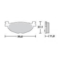 SBS 185MS Front Sinter Brake Pad for Yamaha TMAX 500 04-11
