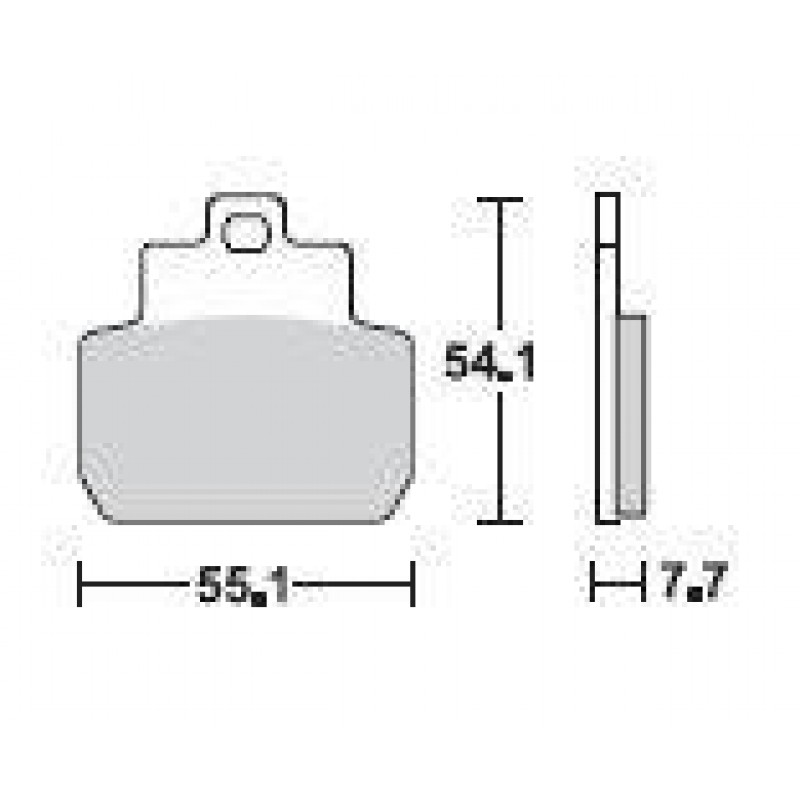 SBS 191SQ Rear Ceramic Brake Pad for Piaggio X8 125 05-