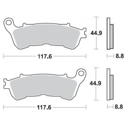 SBS 192HF Front Ceramic Brake Pad for FJS 600 Silverwing 09-