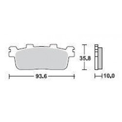 SBS 195MS Front Sinter Brake Pad for Kymco Xciting 300 08-