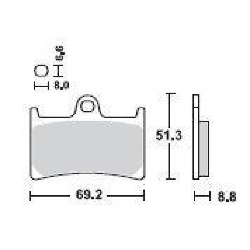 SBS 198MS Front Sinter Brake Pad for Yamaha TMAX 500 08-12