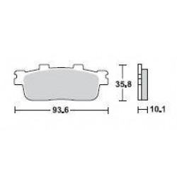 SBS 201MS Front Sinter Brake Pad for SYM GTS250 07