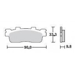 SBS 204CT Carbon Tech Brake Pad for Kymco People GTi 300 12-