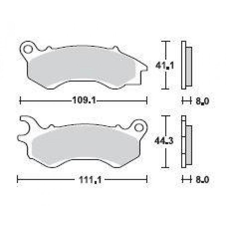 SBS 205SQ Rear Ceramic Brake Pad for Honda PCX125 09-