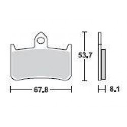 SBS 622HS Front Sinter Brake Pad for Honda RVF400RR (NC35) 90-96