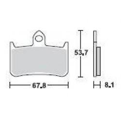 SBS 622SQ Rear Ceramic Brake Pad for Honda RVF400RR (NC35) 90-96