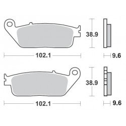 SBS 630HF Front Ceramic Brake Pad for Daelim Roadwin 250 08-
