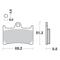 SBS 634HF Front Ceramic Brake Pad for Yamaha YZFR6 99-