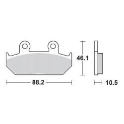 SBS 647HS Front Sinter Brake Pad for Honda GL1500 Goldwing 88