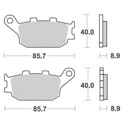SBS 657HF Front Ceramic Brake Pad for Yamaha YZFR1 04-