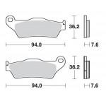 SBS 671HF Front Ceramic Brake Pad for Yamaha XT660Z Tenere 08