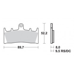SBS 686SQ Rear Ceramic Brake Pad for Suzuki Hayabusa 99-07