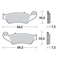SBS 694SQ Rear Ceramic Brake Pad for Suzuki DRZ400SM