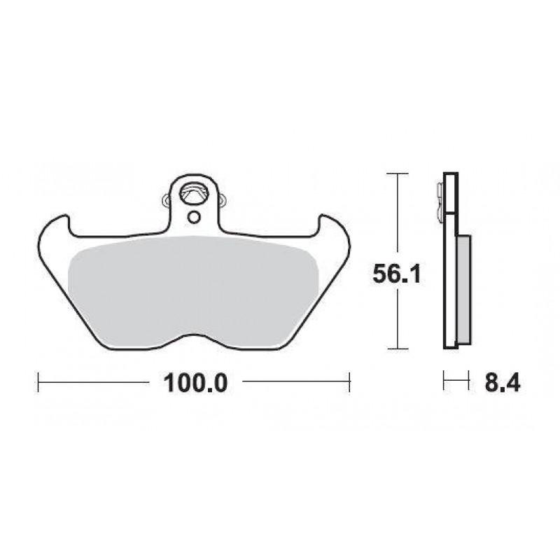 SBS 703SQ Rear Ceramic Brake Pad for BMW K1200LT 99-00