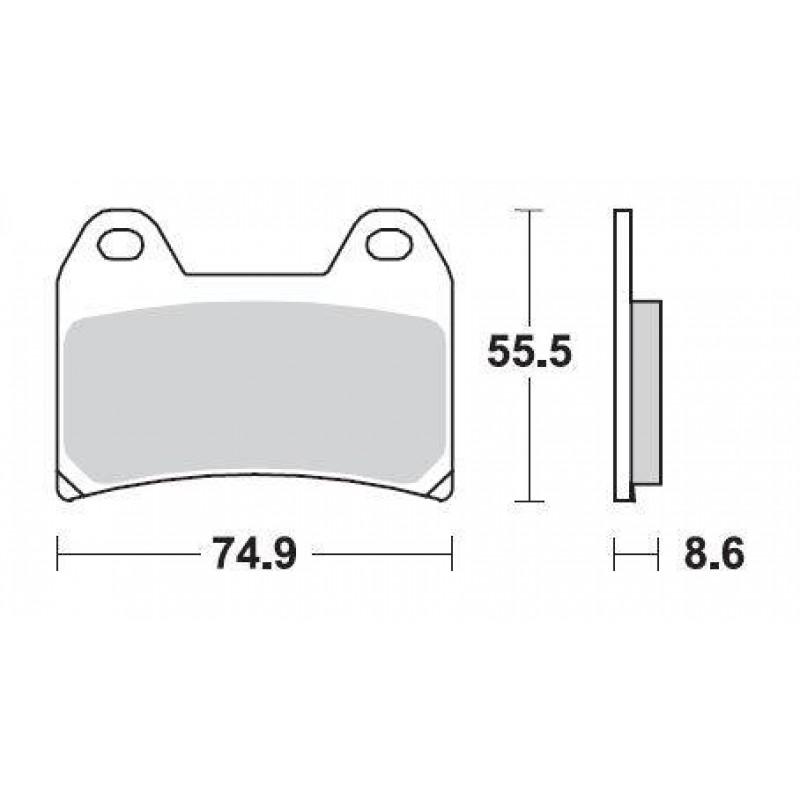 SBS 706HS Front Sinter Brake Pad for Aprilia Tuono V4R 11-13