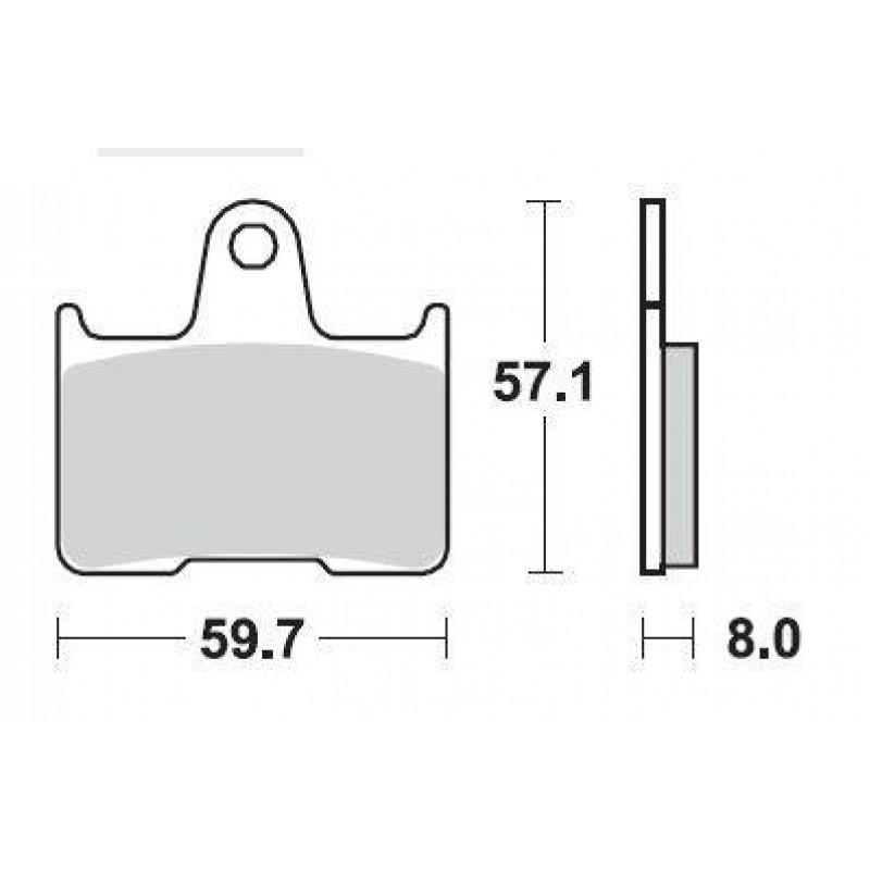 SBS 715LS Rear Sinter Brake Pad for Kawasaki ZZR1400 06