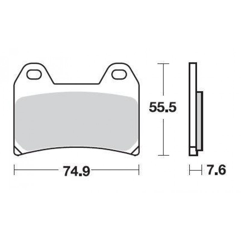 SBS 727HS Front Sinter Brake Pad for Honda CB400 Super 4 Ver S