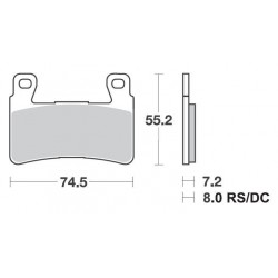 SBS 734HF Front Ceramic Brake Pad for Honda CB1300 05-