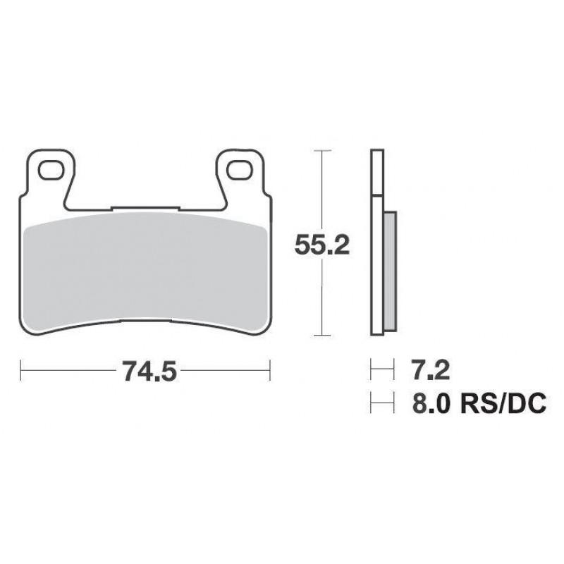 SBS 734HF Front Ceramic Brake Pad for Honda CB1300 05-