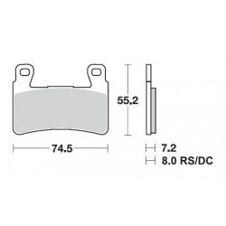 SBS 734HS Front Sintered Brake Pad for Honda CB1300 05