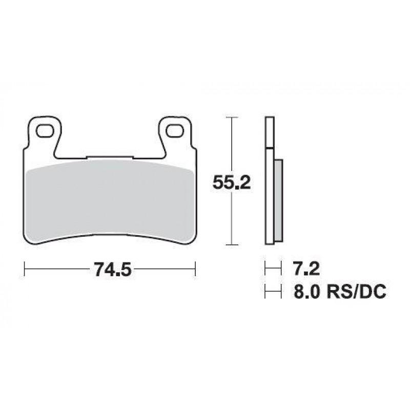 SBS 734HS Front Sintered Brake Pad for Honda CB1300 05