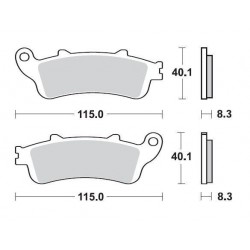 SBS 735HS Front Sinter Brake Pad for Honda ST1300 Pan European ABS 02-07