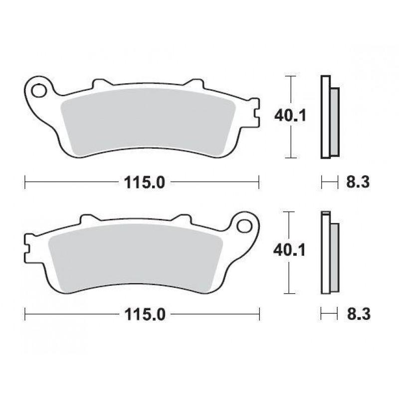 SBS 735HS Front Sinter Brake Pad for Honda ST1300 Pan European ABS 02-07