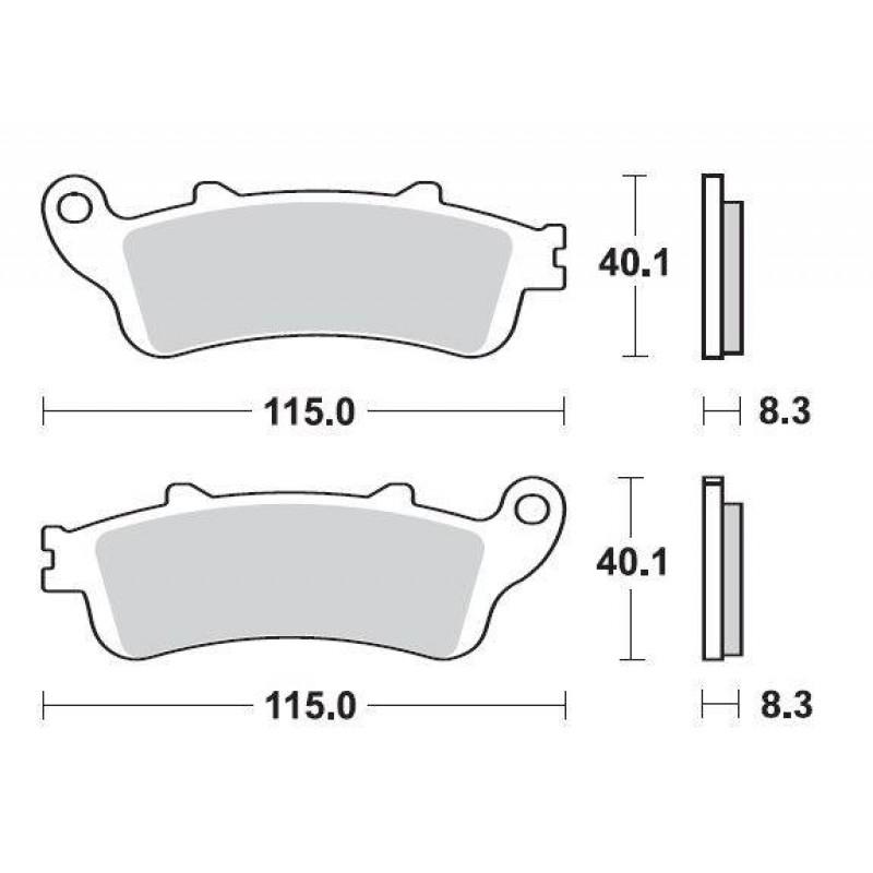 SBS 736HF Front Ceramic Brake Pad for Honda XL1000 Varadero 07-