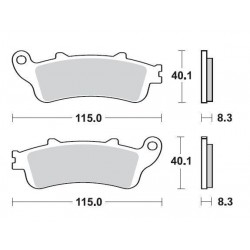 SBS 736LS Rear Sinter Brake Pad for Honda XL1000 Varadero 07