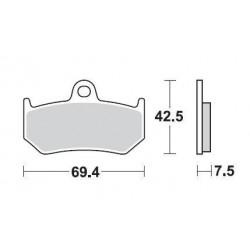 SBS 763LS Rear Sinter Brake Pad for MV Agusta F4RR 08-11