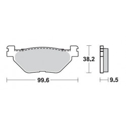 SBS 769SQ Rear Ceramic Brake Pad for Yamaha FJR1300 ABS 03-