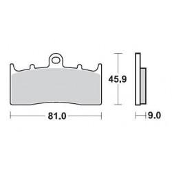SBS 778HS Front Sinter Brake Pad for BMW R1200R 07