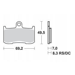 SBS 782HS Front Sinter Brake Pad for Suzuki GSX1300 B-King