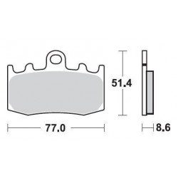 SBS 796HS Front Sinter Brake Pad for BMW R1200GS 04