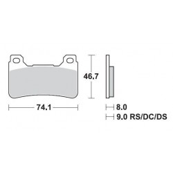 SBS 809DC Front Dual Carbon Brake Pad for Honda CBR1000RR 04